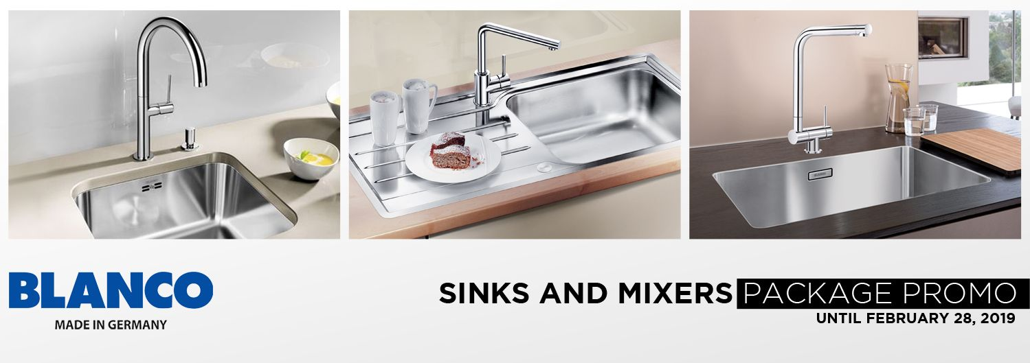 Blanco Sinks and Mixers Package Promo